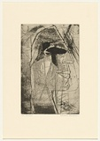 Artist: HANRAHAN, Barbara | Title: Dreamer | Date: c.1960 | Technique: etching and aquatint, printed in black ink, from one plate