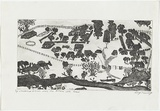 Artist: KENNEDY, Roy | Title: Warangesda Mission where my mother was born | Date: 2002 | Technique: etching, printed in black ink, from one plate