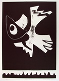 Artist: KING, Inge | Title: Rebel angel II | Date: 1999 | Technique: linocut, printed in black ink, from one block