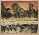 Artist: PRESTON, Margaret | Title: Reflections, Roper River, N.T. | Date: 1946 | Technique: monotype, printed in colour, from one masonite sheet | Copyright: © Margaret Preston. Licensed by VISCOPY, Australia
