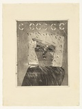 Artist: MOORE, Mary | Title: Self portrait | Date: 1977 | Technique: aquatint printed in black ink, from one zinc plate | Copyright: © Mary Moore
