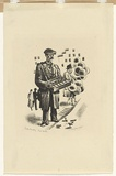 Artist: MISSINGHAM, Hal | Title: Street hawker | Date: 1935 | Technique: lithograph, printed in black ink, from one stone [or plate]