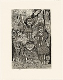 Artist: HANRAHAN, Barbara | Title: Daughters of Beulah | Date: 1989 | Technique: etching, printed in black ink with plate-tone