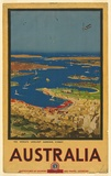 Artist: COLLINS, Albert | Title: The world's loveliest harbour, Sydney, Australia. | Date: 1930 | Technique: lithograph, printed in colour, from multiple stones