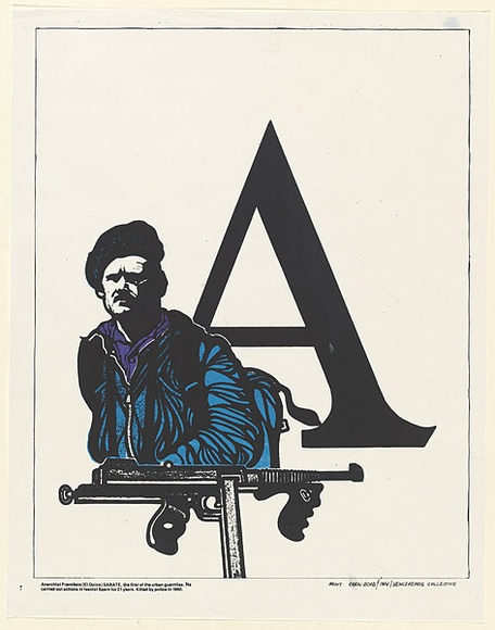 Title: Sabate | Date: 1976 | Technique: screenprint, printed in colour, from two stencils