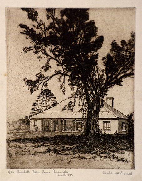elizabeth farm house parramatta 1932 by sheila mcdonald 1902 rh printsandprintmaking gov au