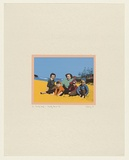 Artist: HARVEY, Geoffrey | Title: Family snap - Clovelly Beach '59 | Date: 1977 | Technique: photo-screenprint, printed in colour, from multiple stencils