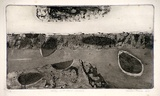 Artist: GLEESON, William | Title: Valley with cloud shadows | Date: 1966 | Technique: etching, printed in black ink, from one plate | Copyright: This work appears on screen courtesy of the artist