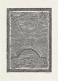 Artist: CHEREL, Butcher | Title: Galaroo III [Rainbow serpent III] | Date: 1998 | Technique: linocut, printed in black ink, from one block