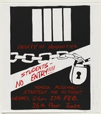 Artist: LANE, Leonie | Title: Faculty of Humanities: Students - No entry!!!! | Date: (1979) | Technique: screenprint, printed in colour, from two stencils | Copyright: © Leonie Lane