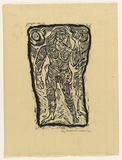 Artist: HANRAHAN, Barbara | Title: Diana | Date: 1962 | Technique: linocut, printed in black ink, from one block