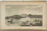 Artist: COOPER, D E | Title: Lake Burrambeet and hill near Pyrenees, Victoria. | Date: 1851 | Technique: engraving, printed in black ink, from one copper plate