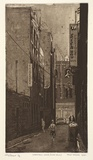 Artist: IRVING, Tony | Title: Waratah Lane (Chinatown) | Date: 1990 | Technique: etching and aquatint, printed in black/brown ink from one plate