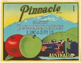 Artist: UNKNOWN | Title: Label: Pinnacle, Tasmanian apples | Date: c.1930 | Technique: lithograph, printed in colour, from multiple stones [or plates]