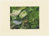Artist: ROBINSON, William | Title: Rainforest | Date: 1992 | Technique: lithograph, printed in colour, from five stones