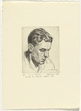 Artist: KILGOUR, J. Noel | Title: H.L. Davidson | Date: 1934 | Technique: etching, printed in black ink, from one  plate