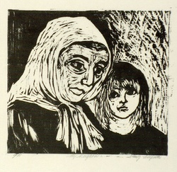 Artist: CLIFTON, Nancy | Title: My neighbour 2. | Date: 1979 | Technique: woodcut, hand-printed in black ink, from one block