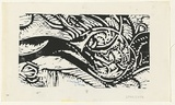 Artist: GREY-SMITH, Guy | Title: Landscape | Date: 1975 | Technique: woodcut, printed in black ink, from one block