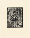 Artist: HANRAHAN, Barbara | Title: Fallen angel | Date: 1989 | Technique: etching, printed in black ink, from one plate
