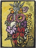 Artist: PRESTON, Margaret | Title: Native flowers | Date: 1949 | Technique: stencil print, printed in colour, from one hand-cut paper stencil | Copyright: © Margaret Preston. Licensed by VISCOPY, Australia
