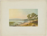 Artist: CHEVALIER, Nicholas | Title: Lake Wellington, Gippsland | Date: 1865 | Technique: lithograph, printed in colour, from multiple stones