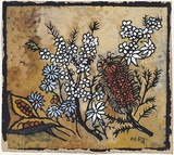 Artist: PRESTON, Margaret | Title: Still life | Date: 1950 | Technique: stencil, printed in colour, from one hand-cut paper stencil | Copyright: © Margaret Preston. Licensed by VISCOPY, Australia
