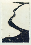 Artist: ROBERTS, Neil | Title: Lahar 6 | Date: 1991 | Technique: pigment-transfer, printed in brown ink, from one bitumen paper plate