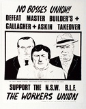 Artist: UNKNOWN | Title: N.S.W. BLF- Job delegates and Activists' Association | Technique: screenprint, printed in colour, from multiple stencils