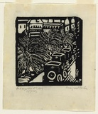 Artist: PRESTON, Margaret | Title: Macquarie Street | Date: c.1925 | Technique: woodcut, printed in black ink, from one block | Copyright: © Margaret Preston. Licensed by VISCOPY, Australia