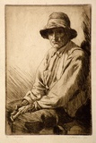 Artist: FRIEDENSEN, Thomas | Title: Old Jimmy. | Date: 1925 | Technique: drypoint, printed in black ink, from one plate