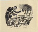 Artist: MISSINGHAM, Hal | Title: Hyde Park orator | Date: 1935 | Technique: lithograph, printed in black ink, from one stone [or plate]