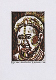 Artist: SAKALE, Laben | Title: Hagen meri [Hagen woman] | Date: 2002 | Technique: linocut, printed in colour by the reduction method, from one block