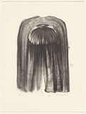 Artist: JOHNSTONE, Ruth | Title: Cloak study | Date: 1988 | Technique: lithograph, printed in black ink, from one stone