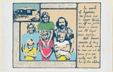 Artist: PICKETT, Byron | Title: Family. | Date: 1985 | Technique: screenprint, printed in colour, from multiple stencils | Copyright: © Byron Pickett, Licensed by VISCOPY, Australia