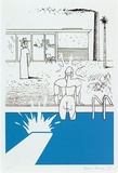 Artist: DAVILA, Juan | Title: A bigger splash. | Date: 1989 | Technique: screenprint