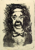 Artist: GRIEVE, Robert | Title: Clown | Date: 1954 | Technique: lithograph, printed in black ink, from one stone
