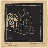 Artist: PRESTON, Margaret | Title: Nude 2 | Date: 1925 | Technique: woodcut, printed in black ink, from one block | Copyright: © Margaret Preston. Licensed by VISCOPY, Australia