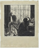 Artist: PROCTOR, Thea | Title: The toilet. | Date: c.1918 | Technique: lithograph, printed in black ink, from one stone