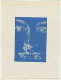 Artist: JOHNSON, Tim | Title: Face with safety pin | Date: 1979 | Technique: screenprint, printed in colour, from multiple stencils | Copyright: © Tim Johnson
