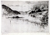 Artist: FULLWOOD, A.H. | Title: Jerusalem Bay, Ku-Ring-Gai Chase, NSW. | Date: 1924 | Technique: etching, printed in black ink, from one plate