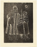 Artist: HANRAHAN, Barbara | Title: Family | Date: c.1960 | Technique: lithograph, printed in black ink, from one stone