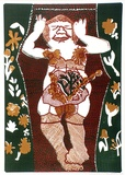 Artist: HANRAHAN, Barbara | Title: Flower girl | Date: 1964 | Technique: lithograph, printed in colour, frorm three stones [or plates]