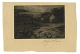 Artist: PRESTON, Margaret | Title: Bonmahon, Ireland. | Date: c.1916 | Technique: drypoint, printed in warm black ink with plate-tone, from one plate | Copyright: © Margaret Preston. Licensed by VISCOPY, Australia