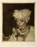 Artist: HUNTER, William | Title: Lady for a Day | Date: 1962 | Technique: etching and aquatint, printed in brown ink with plate-tone, from one plate