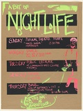 Artist: UNKNOWN | Title: A bit of night life | Date: c.1979 | Technique: screenprint, printed in colour, from multiple stencils