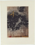 Artist: Backen, Earle | Title: Dust storm. | Date: 1965 | Technique: etching and aquatint, printed in colour