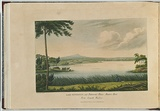 Artist: LYCETT, Joseph | Title: Lake Patterson, near Patterson's Plains, Hunters River, New South Wales. | Date: 1824 | Technique: etching, aquatint and roulette, printed in black ink, from one plate; hand-coloured