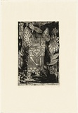 Artist: HANRAHAN, Barbara | Title: Angels in a garden | Date: 1989 | Technique: etching, printed in black ink with plate-tone