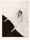 Artist: BALDESSIN, George | Title: Falling woman. | Date: 1964 | Technique: etching and aquatint, printed in black ink, from one plate