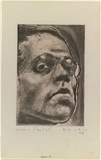 Artist: KAHAN, Louis | Title: Self II | Date: 1946 | Technique: lavis printed in black ink, from one copper plate | Copyright: © Louis Kahan. Licensed by VISCOPY, Australia